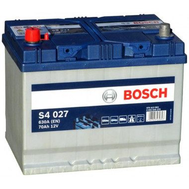 Аккумуляторная батарея BOSCH 0092S40270 BOSCH S4 SILVER 12V 70AH 630A ETN 1(L+) B01 261x175x220mm 17.32kg