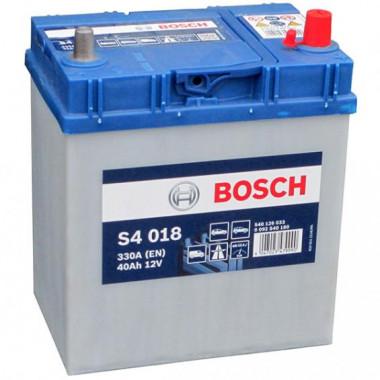 Аккумуляторная батарея BOSCH 0092S40180 BOSCH S4 SILVER 12V 40AH 330A ETN 0(R+) B00 187x127x227mm 10.1kg, тонкие клеммы