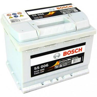 Аккумуляторная батарея BOSCH 0092S50060 BOSCH S5 SILVER PLUS 12V 63AH 610A ETN 1(L+) B13 242x175x190mm 14.34kg