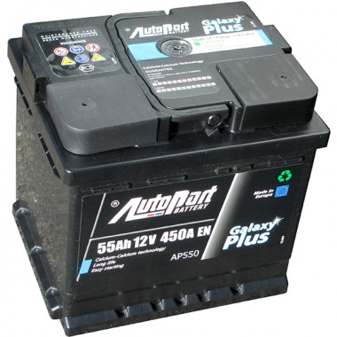 Аккумуляторная батарея AUTOPART AP550 55Ah 450A (R+) 207x175x190 mm