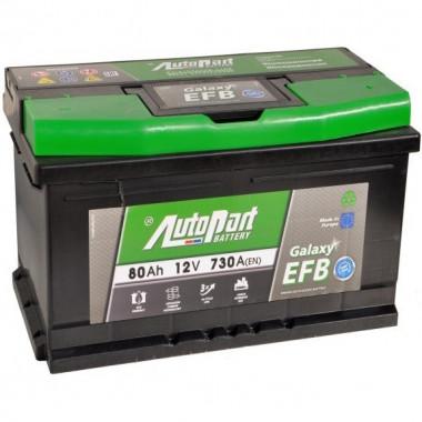 Аккумуляторная батарея AUTOPART EFB800 START-STOP 80Ah 730A (R+) 315x175x175 mm