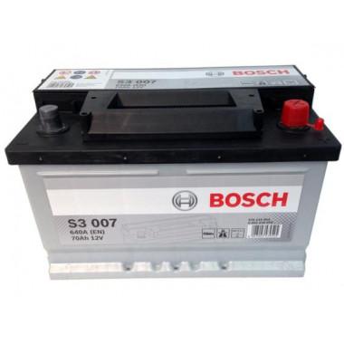 Аккумуляторная батарея BOSCH 0092S30070 BOSCH S3 70 R (низкий) 640A 278X175X175