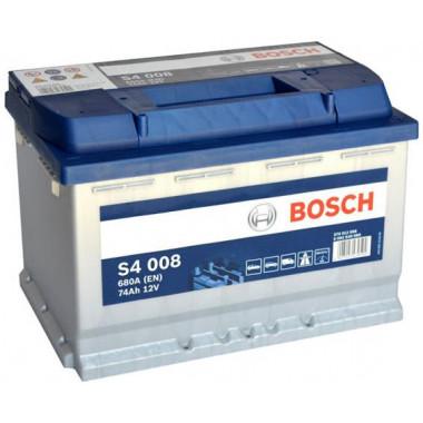 Аккумуляторная батарея BOSCH 0092S40080 BOSCH S4 Silver 74 R 680A 278X175X190