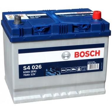 Аккумуляторная батарея BOSCH 0092S40260 BOSCH S4 Asia Silver 70 JR 630A 261X175X220