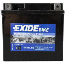 Аккумуляторная батарея EXIDE ETX5L-BS Bike Maintenance Free 12V 4Ah 115x70x105