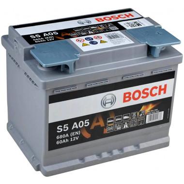 Аккумуляторная батарея BOSCH 19.5/17.9 евро 60Ah 680A 242/175/190 AGM