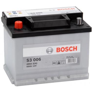 Аккумуляторная батарея BOSCH 19.5/17.9 рус 56Ah 480A 242/175/190