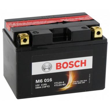 Аккумуляторная батарея BOSCH рус 11Ah 140A 150/88/105 YT12A-BS moto