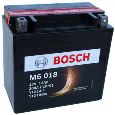 Аккумуляторная батарея BOSCH рус 12Ah 100A 152/88/147 YTX14-BS moto