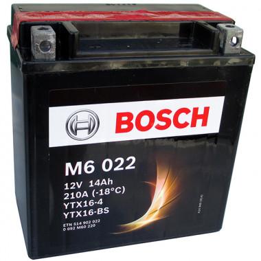 Аккумуляторная батарея BOSCH рус 14Ah 220A 150/87/161 YTX16-BS moto