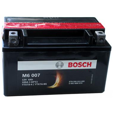 Аккумуляторная батарея BOSCH рус 6Ah 50A 151/88/94 YTX7A-BS moto