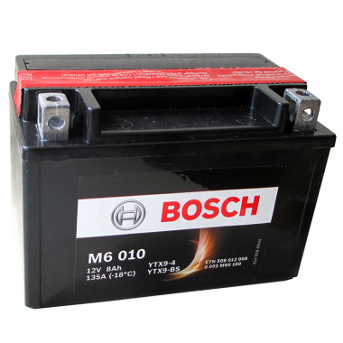 Аккумуляторная батарея BOSCH рус 8Ah 80A 152/88/106 YTX9-BS moto