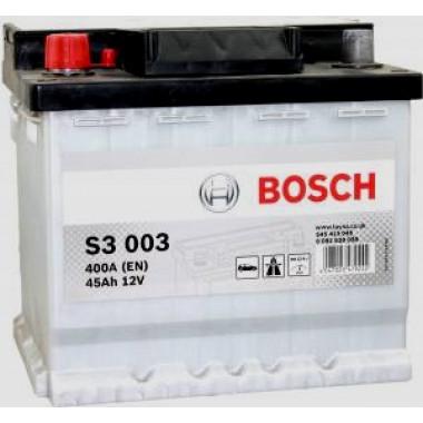 Аккумуляторная батарея BOSCH 0092S30030 BOSCH S3 12V 45AH 400A ETN 1(L+) B13 207x175x190mm 11.43kg