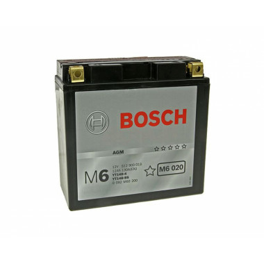Аккумуляторная батарея BOSCH 0092M60200 для мототехники BOSCH MOBA AGM M6 12V 12AH 130A (YT14B-4/YT14B-BS) 152x70x150mm 4.7kg