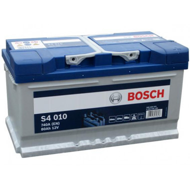 Аккумуляторная батарея BOSCH 0092S40100 BOSCH S4 SILVER 12V 80AH 740A ETN 0(R+) B13 315x175x175mm 19.21kg