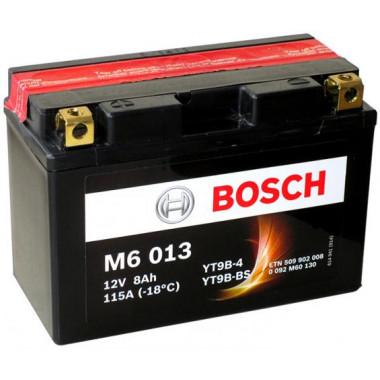 Аккумуляторная батарея BOSCH 0092M60130 для мототехники BOSCH MOBA AGM M6 12V 8AH 115A (YT9B-4/YT9B-BS) 149x70x105mm 3.3kg
