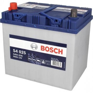 Аккумуляторная батарея BOSCH 0092S40250 BOSCH S4 SILVER 12V 60AH 540A ETN 1(L+) B00 232x173x225mm 14.54kg