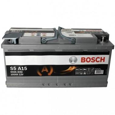 Аккумуляторная батарея BOSCH 0092S5A150 105Ah BOSCH S5 AGM 12V 105AH 950A ETN 0(R+) B13 394x175x190mm 29.4kg