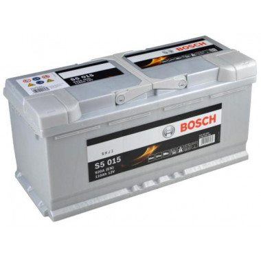 Аккумуляторная батарея BOSCH 0092S50150 BOSCH S5 SILVER PLUS 12V 110AH 920A ETN 0(R+) B13 393x175x190mm 24.48kg
