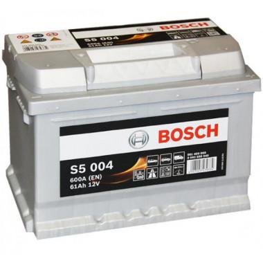 Аккумуляторная батарея BOSCH 0092S50040 BOSCH S5 SILVER PLUS 12V 61AH 600A ETN 0(R+) B13 242x175x175mm 14.34kg