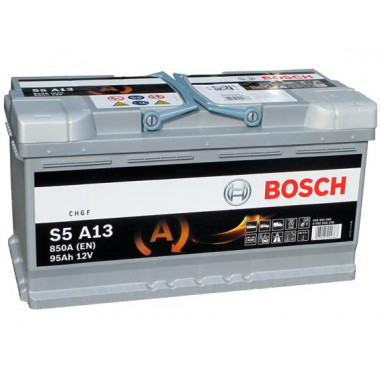Аккумуляторная батарея BOSCH 0092S5A130 95Ah BOSCH S5 AGM 12V 95AH 850A ETN 0(R+) B13 353x175x190mm 25.92kg