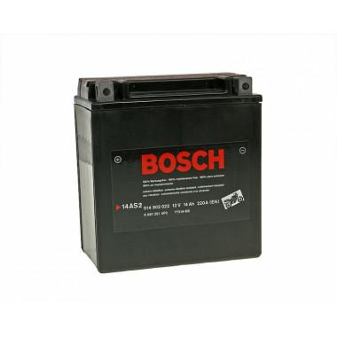 Аккумуляторная батарея BOSCH 0092M60220 для мототехники BOSCH MOBA AGM M6 12V 14AH 220A (YTX16-4/YTX16-BS) 150x87x161mm 4.3kg