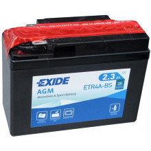 Аккумуляторная батарея EXIDE ETR4A-BS для мототехники EXIDE AGM 12 V 2.3 AH 30 A ETN 4 B0 115x50x85mm 1kg