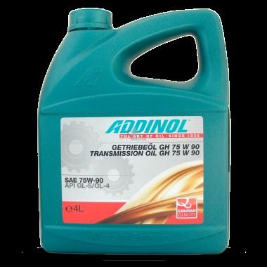 Масло трансмиссионное ADDINOL GH75W90 синтетика ( 4L) (API GL-4/GL-5)