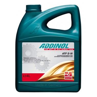 Трансмиссионная жидкость ADDINOL ATF DIII для АКПП. (4L) GM Dexron III (H)