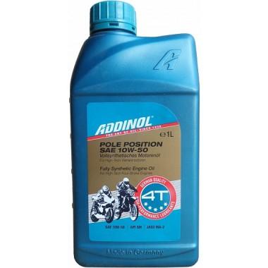 Масло моторное ADDINOL POLE POSITION 10W50 синтетика ( 1L) для мотоциклов API SM/SL/SJ/SH