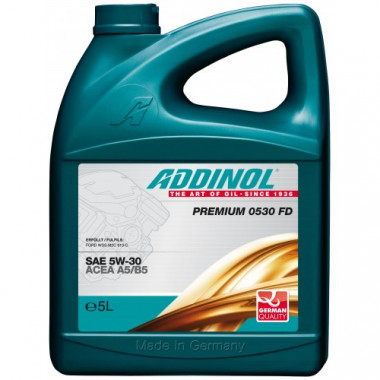 Масло моторное ADDINOL Premium 0530FD 5W30 синтетика ( 5L) ACEA A5/B5, A1/B1