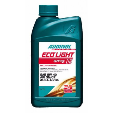 Масло моторное ADDINOL ECO LIGHT 5W40 синтетика ( 1L) API SN/CF; EC